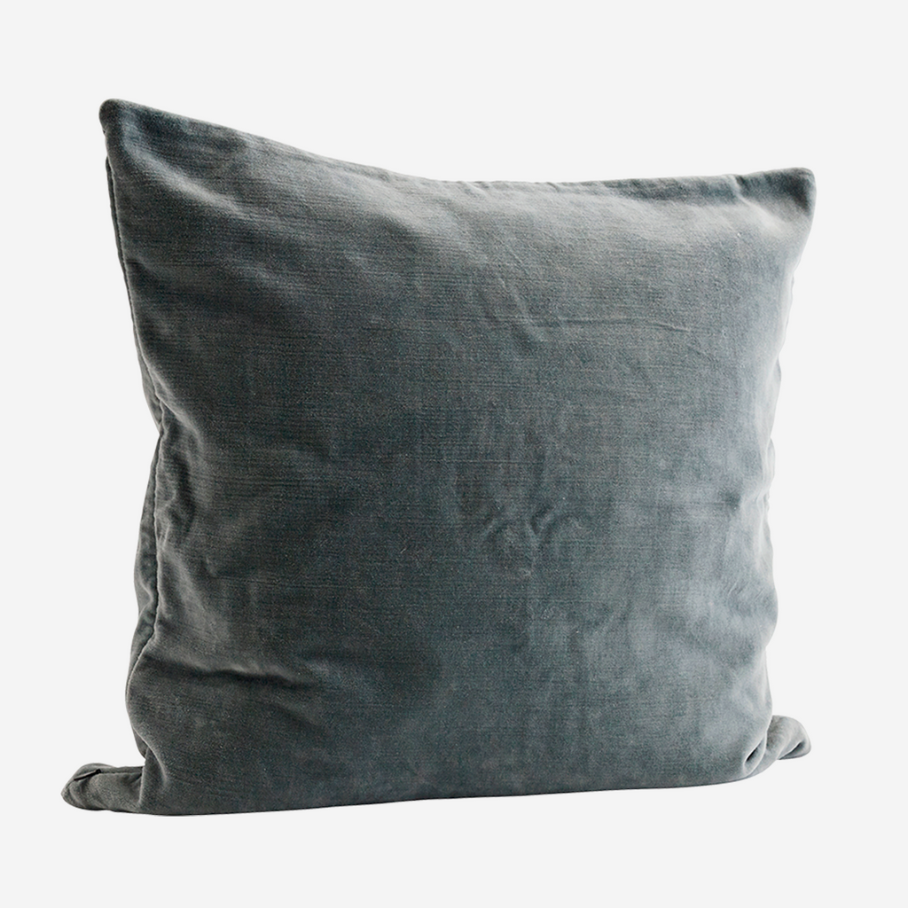 Velvet Cushion - light green