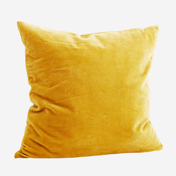 Velvet Cushion - curry