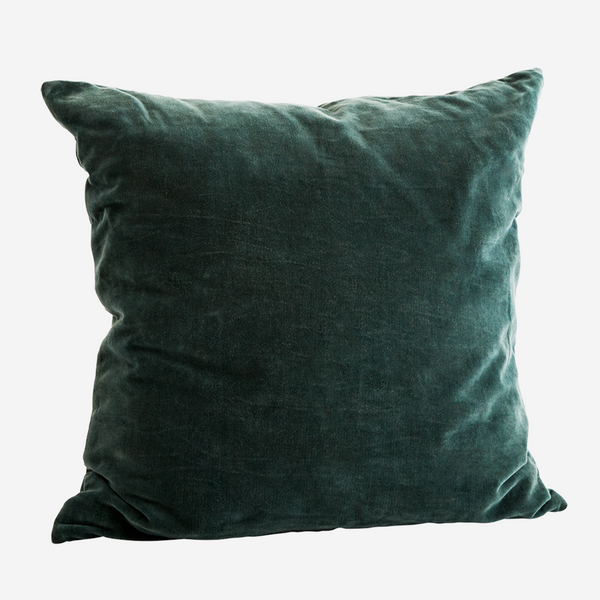 Velvet Cushion - FOREST GREEN
