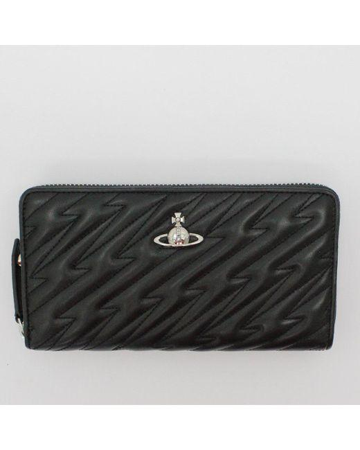 Vivienne Westwood AW18 Coventry Zip Round Wallet - Black