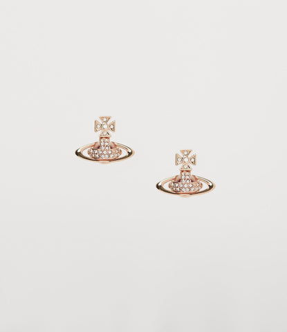 Vivienne Westwood SORADA BAS RELIEF EARRINGS PINK GOLD