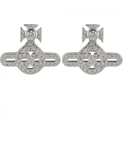 Vivienne Westwood Infinity stud Earrings - Rhodium
