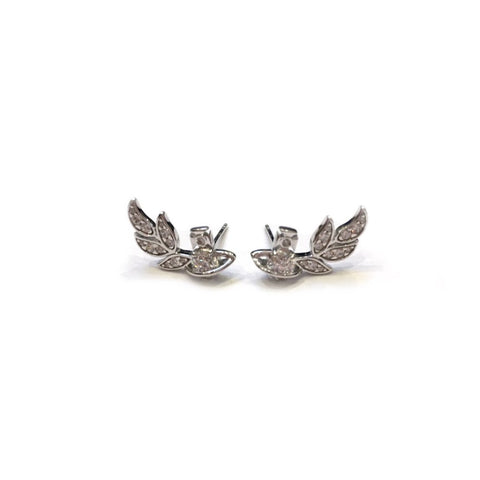 Vivienne Westwood Amma Stud Earrings- Rhod