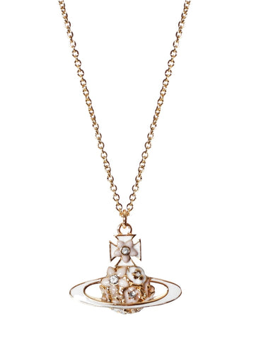 Vivienne Westwood Azalea BR Pendant - White and Gold