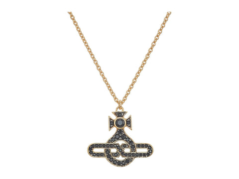 Vivienne Westwood Infinity Orb Pendant - Black and Gold