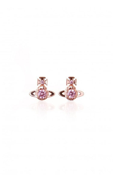 Vivienne Westwood Ouroboros Small Earrings- Pink Gold