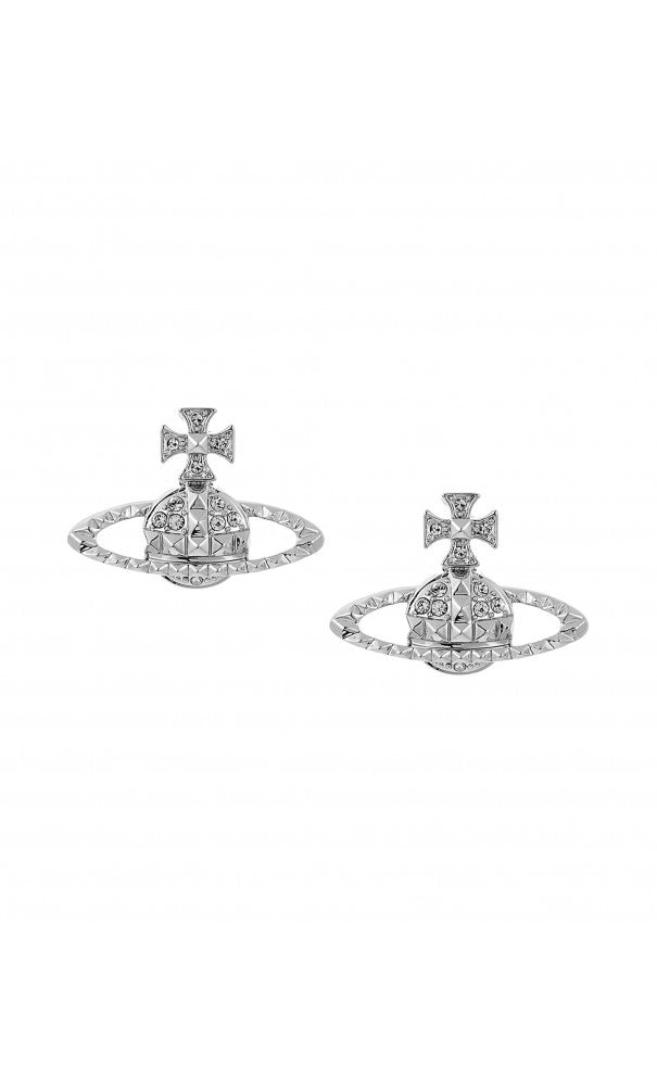 Vivienne Westwood  Mayfair bas relief Earrings silver/crystal