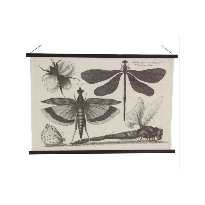 Wall Hanging Dragonfly Black 80x2x114cm
