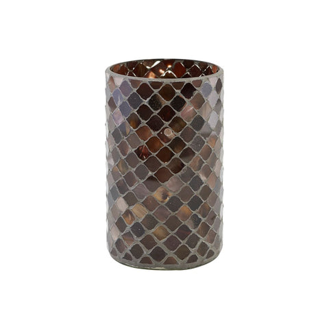 CANDLE STAND, BROWNIE, BROWN