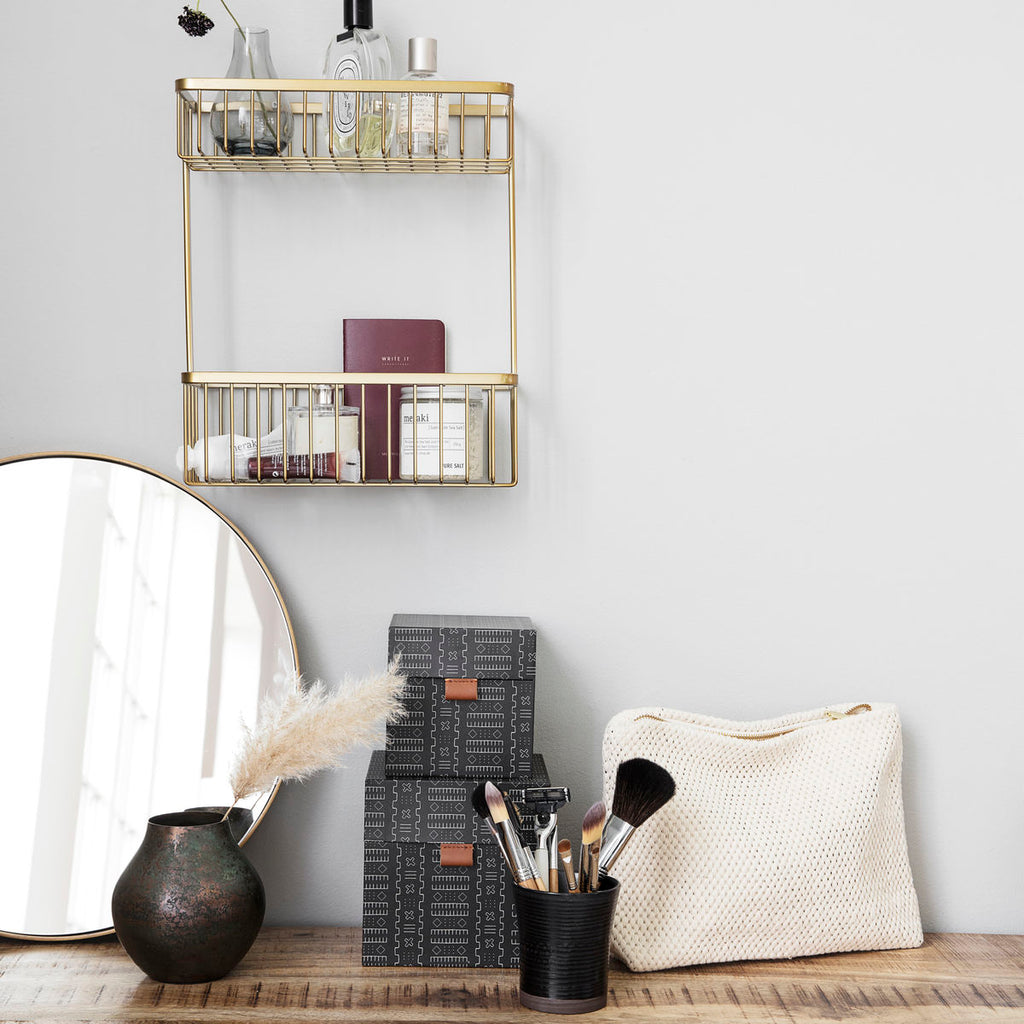 Double Bath Basket Shelf