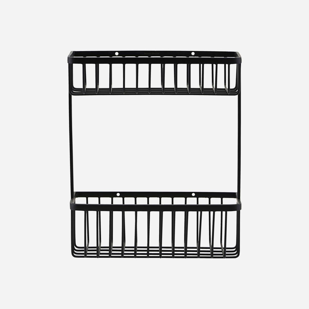 Double Bath Basket Shelf - Black