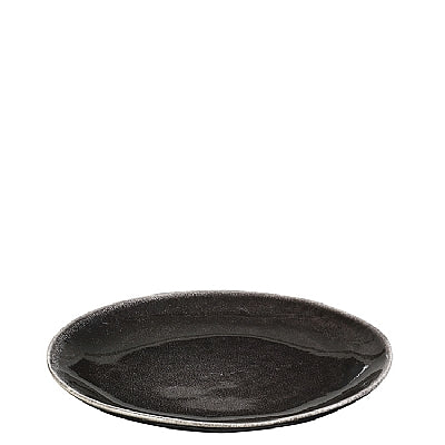 DESSERT/LUNCH PLATE NORD.COAL STONEWARE CHARCOAL