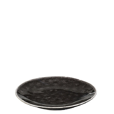 SIDE PLATE 'NORDIC COAL' STONEWARE CHARCOAL