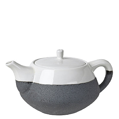 TEA POT FOR ONE 'ESRUM' STONEW. IVORY/GREY