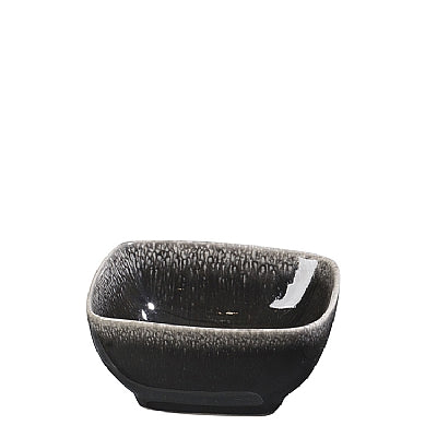 BOWL 'NORDIC COAL' SQUARE STONEWARE CHARCOAL