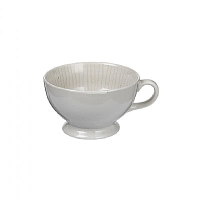 BOWL/MUG 'COPENHAGEN' STONEWARE IVORY WITH STRIPE