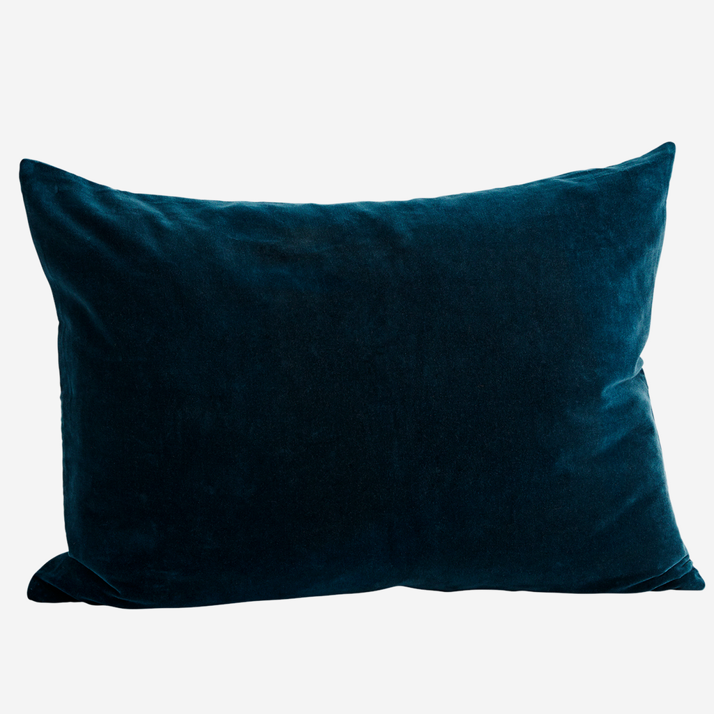 Large VELVET CUSHION COVER Petrol