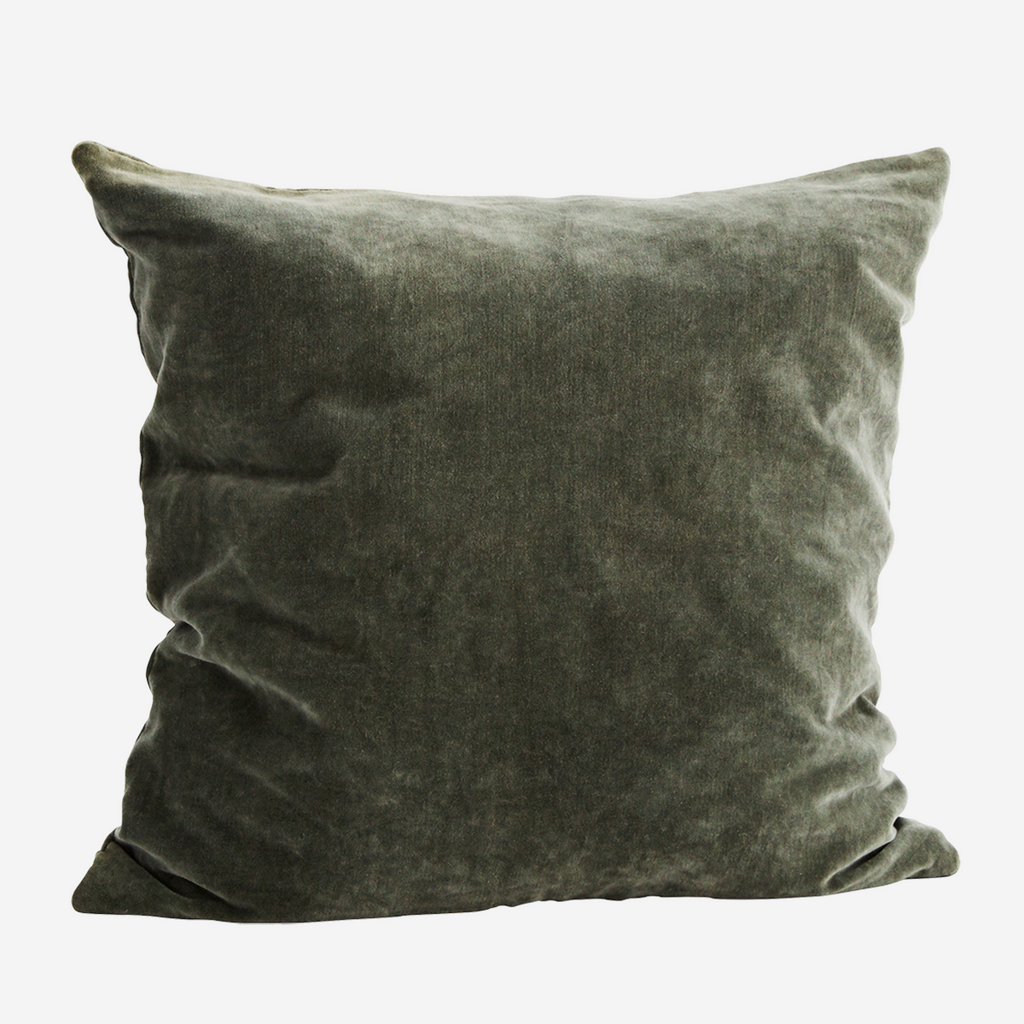 Velvet Cushion - dusty green