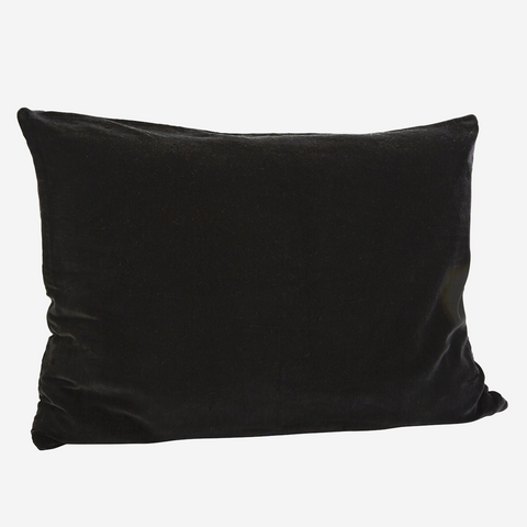 Large VELVET CUSHION COVER black