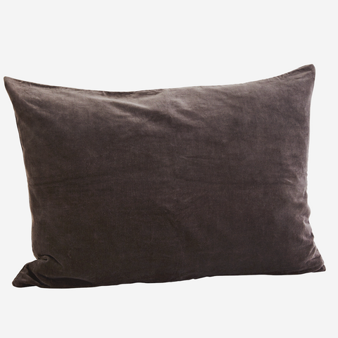 Large VELVET CUSHION COVER Charcoal