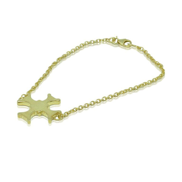 CollardManson 925 Silver Maltese Cross Bracelet-Gold Plated
