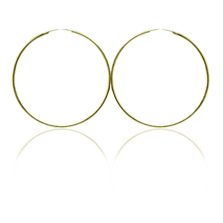 925 Gold plated silver hoop earrings - Small