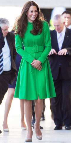Princess Catherine wearing green