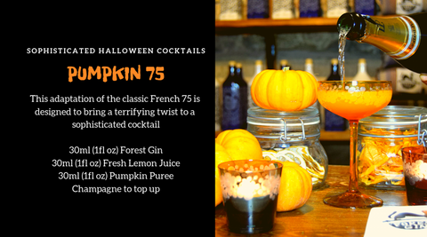Pumpkin 75 Gin Cocktail