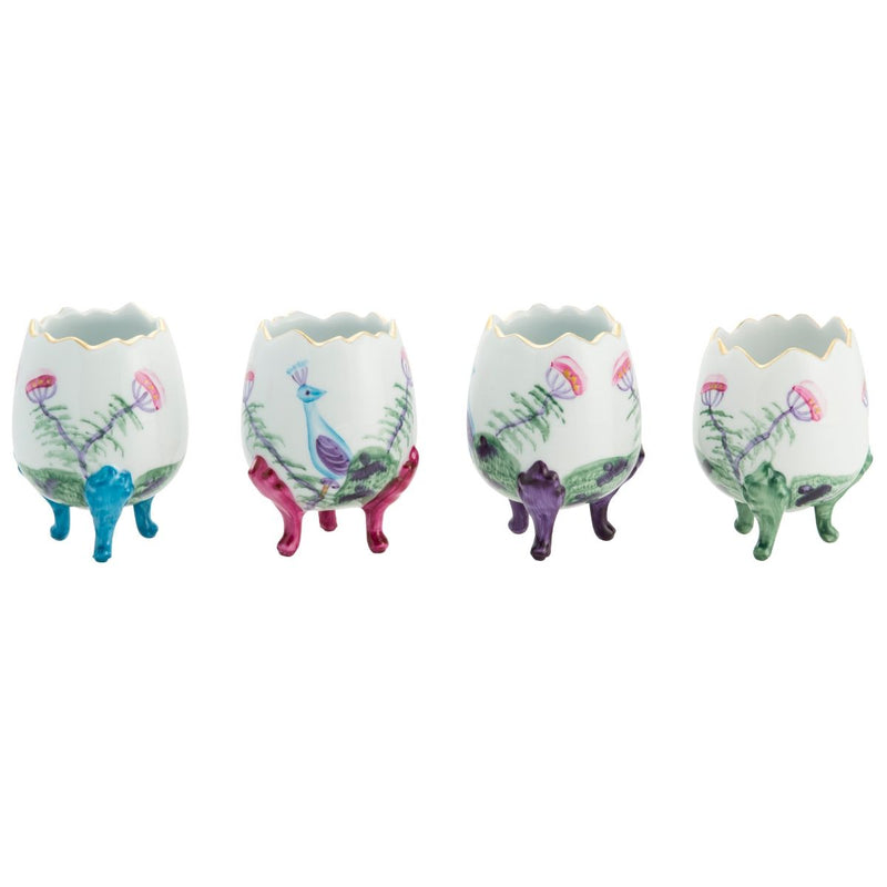 Peacock Broken Eggs Small - Set of 4 - Mixed Colours