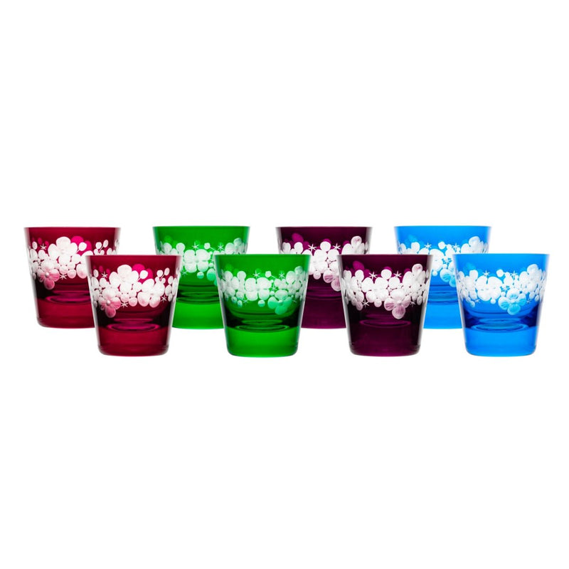 Tallulah Tipple Glass - Set Of 8 - Summer Colours
