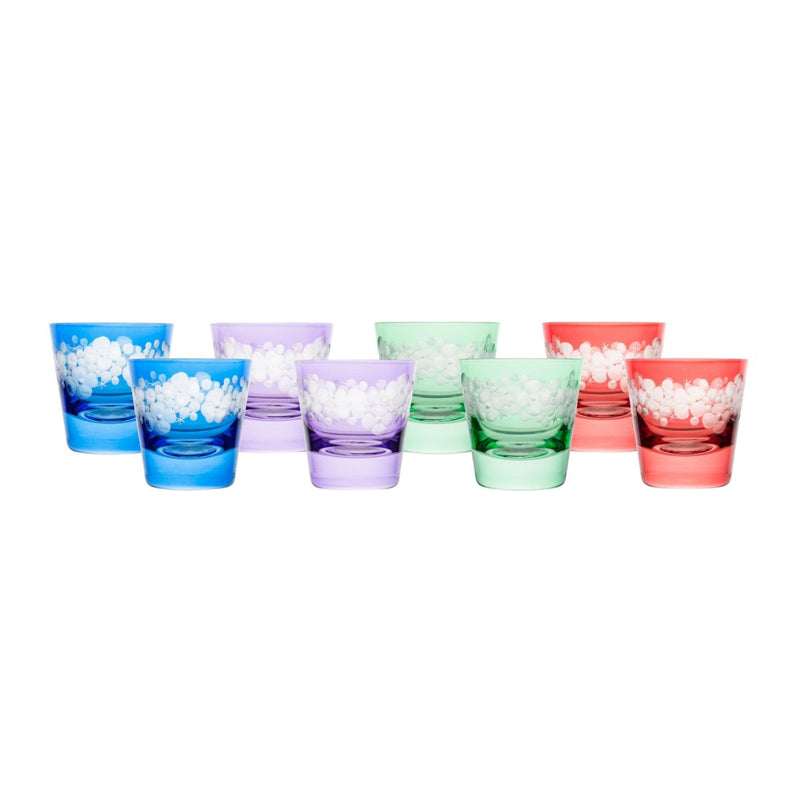 Tallulah Tipple Glass - Set Of 8 - Spring Colours