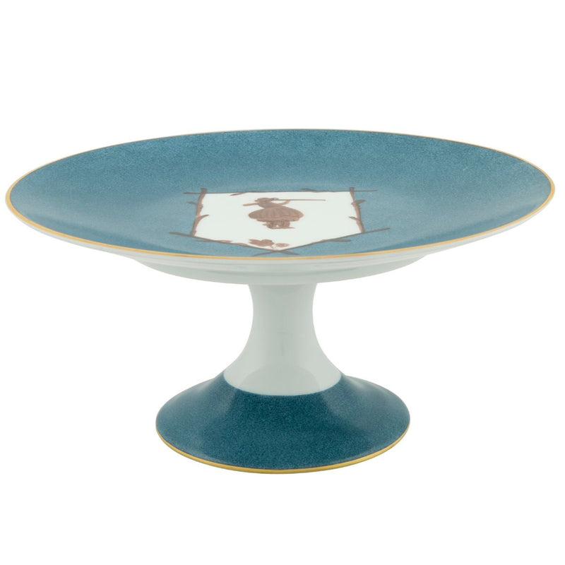 Saint Hubert Cake Stand - Gunshot Blue