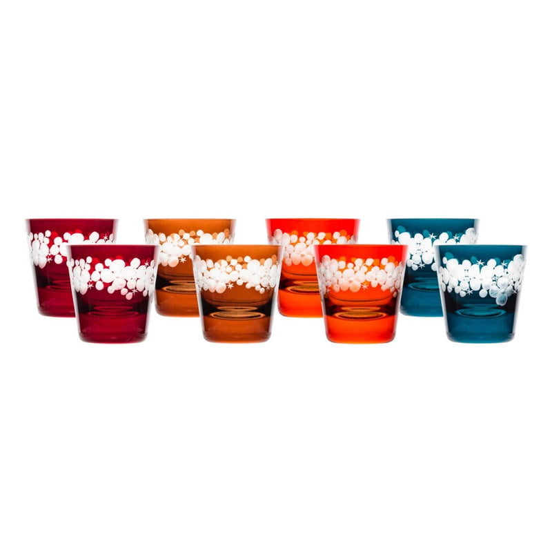 Tallulah Tipple Glass - Set Of 8 - Winter Colours