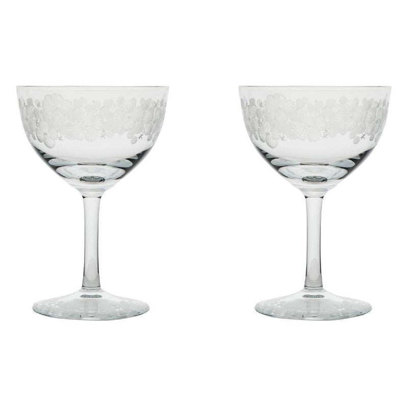 Cristobelle Champagne Saucer - Clear Pair