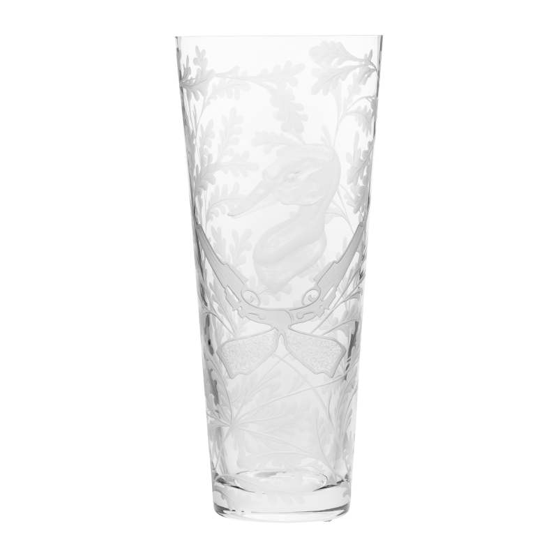 Crystal Vase - Duck - Clear