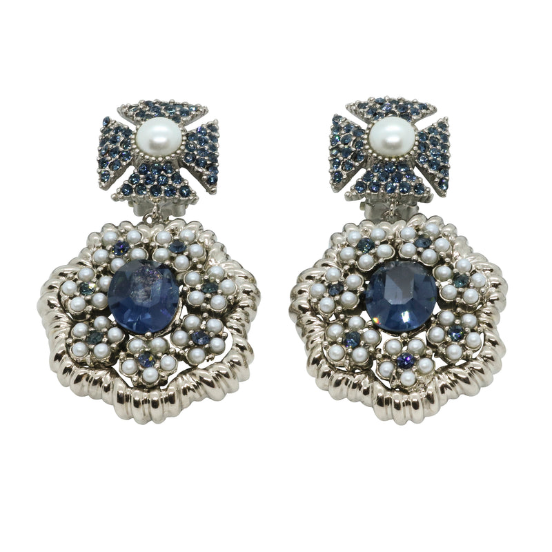 Lady Margerita Statement Earrings - Montana Blue