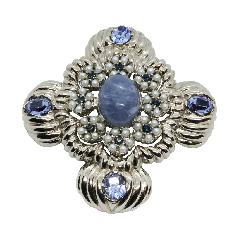 Lady Mari Pin / Brooch & Pendant - Sky Blue