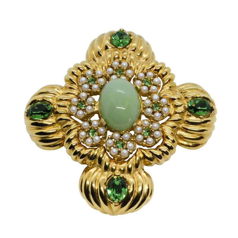 Lady Mari Pin / Brooch & Pendant - Mint Green