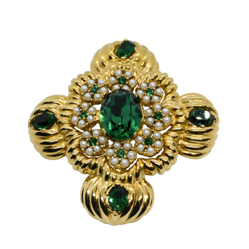 Lady Mari Pin / Brooch & Pendant - Emerald Green