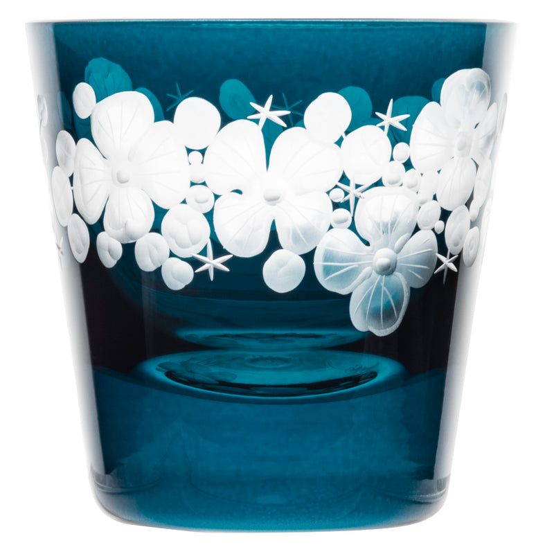Tallulah Tipple Glass Peacock Blue