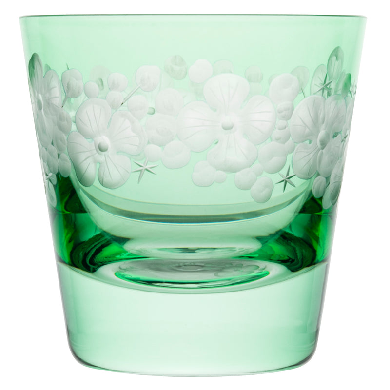 Tallulah Tipple Glass Peridot Green