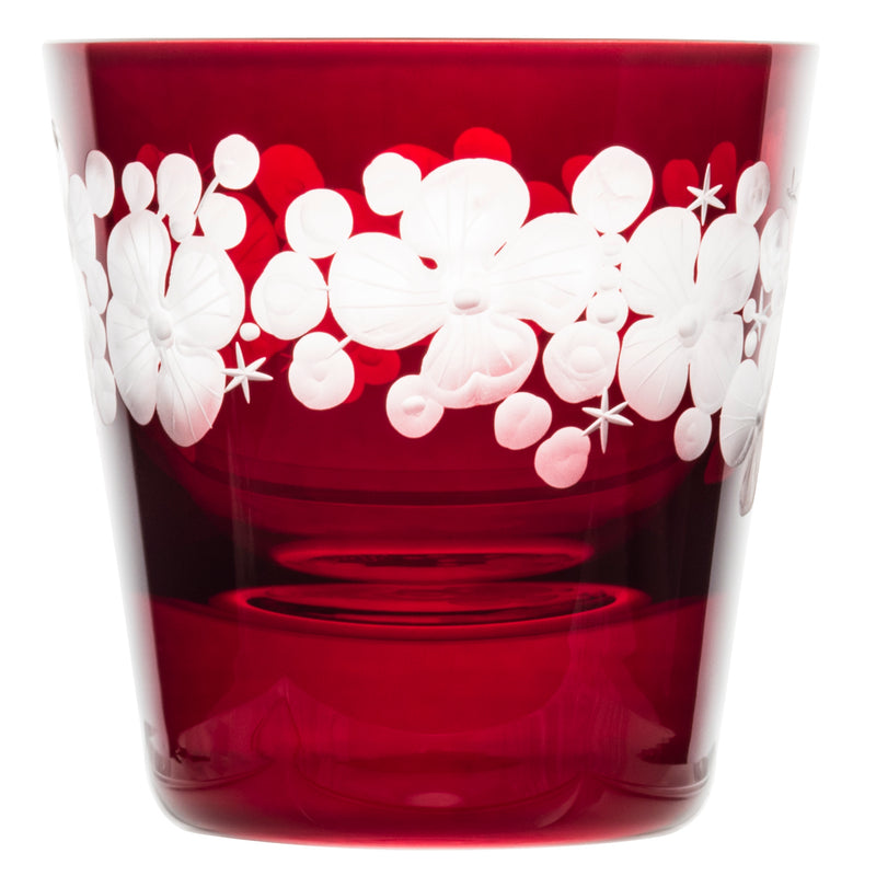 Tallulah Tipple Glass - Ruby Red
