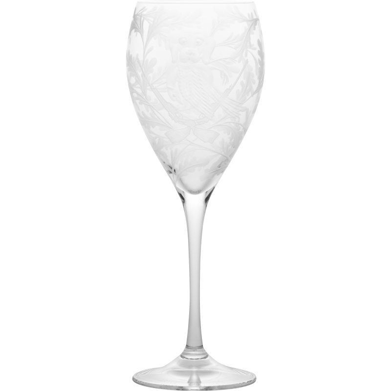 Crystal Wine Goblet - Labrador & Pheasant - Clear