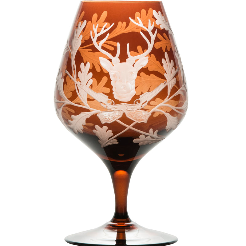 Cognac Glass - Stag - Mahogany Brown
