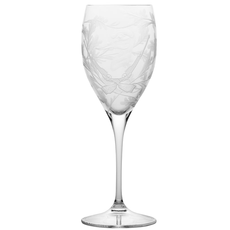 Crystal White Wine Glass - Duck - Clear