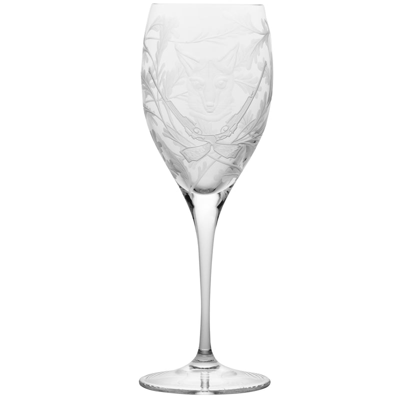 Crystal White Wine Glass - Fox - Clear
