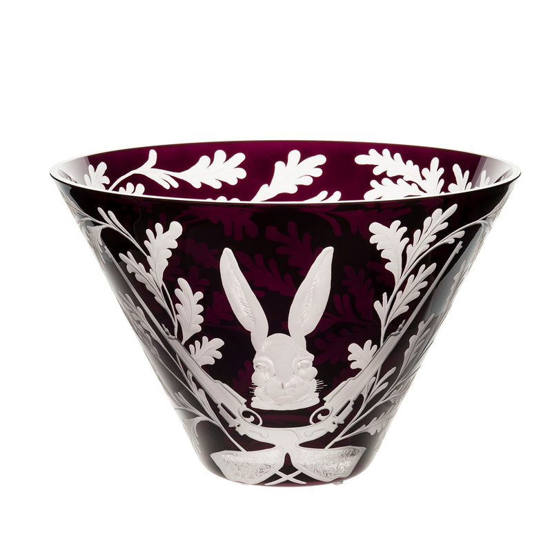 Large Crystal Bowl - Hare - Purple