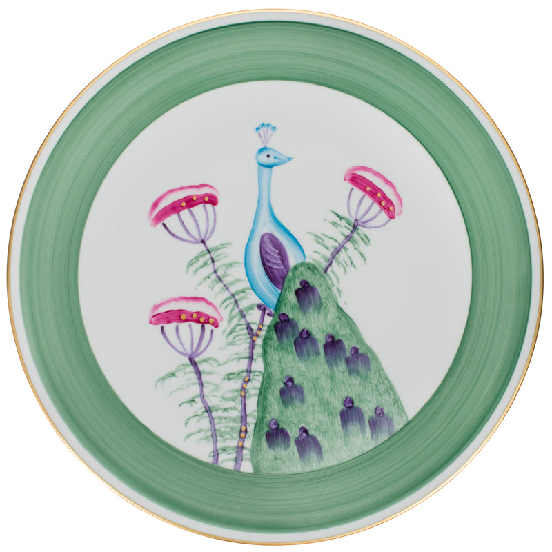 Peacock Charger, Presentation Plate - Emerald Green