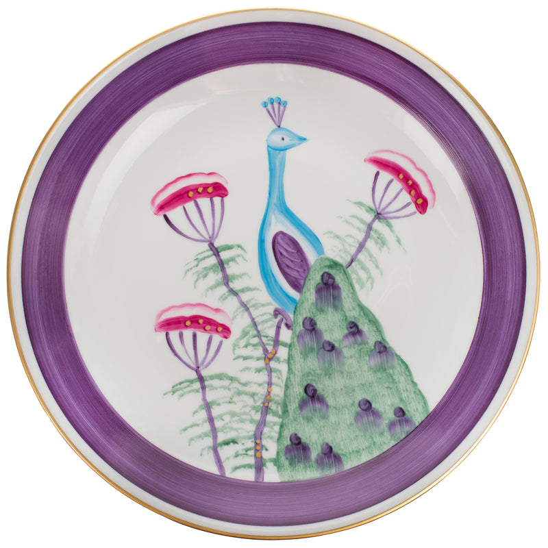 Peacock Dinner Plate Amethyst Purple