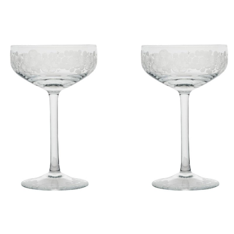 Isadora Champagne Saucer - Clear Pair